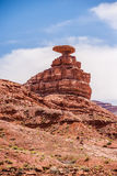 Mexican hat rock monument landscape Royalty Free Stock Image