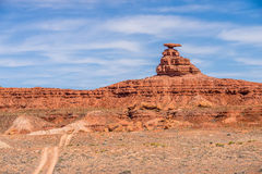Mexican hat rock monument landscape Stock Photos
