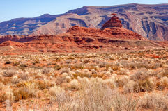 Mexican Hat. Situated aprox. half an hour from Monument valley this funny rock formation really looks like a Mexican Hat Stock Image