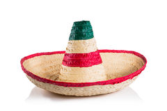 Mexican hat / sombrero isolated on white. Mexican sombrero in white background royalty free stock photography