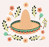 Mexican hat, sombrero, mexican hat isolated, mexican hat vector Royalty Free Stock Photography