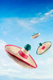 Mexican hat / sombreros in the sky Royalty Free Stock Image