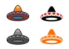 Mexican hats Stock Image