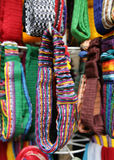 Mexican Headbands. Colorful headbands for sale in Mexico at an open-air market. Shallow depth-of-field Stock Image