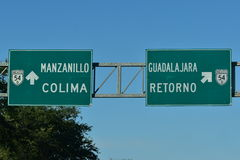 Mexican Highway Signs Stock Photo