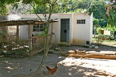 Mexican home in farm country Royalty Free Stock Photo