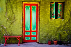Mexican house. Vivid colors of mexican house Stock Images