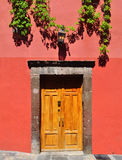 Mexican house Colonial style door Stock Photography