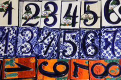 Mexican house numbers. Stock Image