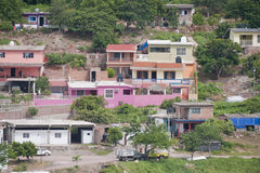 Mexican houses on hillside Stock Image