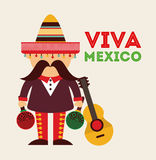 Mexican icon design. Illustration eps10 graphic Stock Image