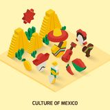 Mexican Icon Isometric Stock Photo