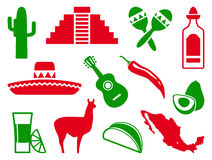 Mexican icon set Stock Image