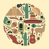 Mexican icon set Royalty Free Stock Image