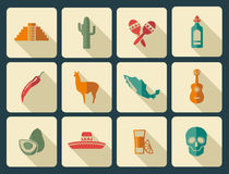 Mexican icon set Royalty Free Stock Images