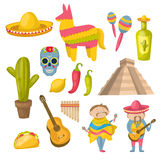Mexican Icon Set Stock Photography