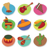 Mexican icons Royalty Free Stock Photo