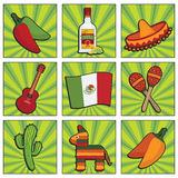 Mexican icons Stock Photos