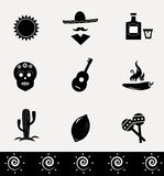Mexican icons collection. Royalty Free Stock Image