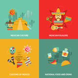 Mexican Icons Set Stock Images