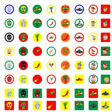 Mexican icons set Royalty Free Stock Photography