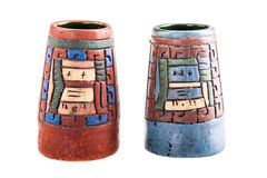 Mexican inca vase Royalty Free Stock Images