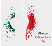 Mexican Independence day background with grunge heart Royalty Free Stock Image