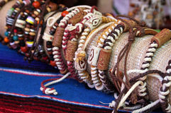 Mexican or Indian bracelets Stock Photography