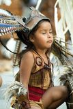 Mexican indian Child. Attire, colorful dress Royalty Free Stock Image