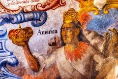 Mexican Indian Crown Fresco Sanctuary of Jesus Atotonilco Mexico Royalty Free Stock Photos
