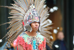Mexican indian dancer. Attire, colorful dress Stock Photography