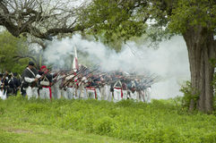 Mexican Infantry Volley Royalty Free Stock Images