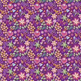 Mexican inspired floral background Stock Image