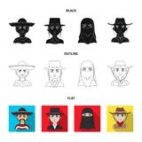 A mexican, a jew, a woman from the middle east, an american. The human race set collection icons in black,flat,outline. Style vector symbol stock illustration royalty free illustration