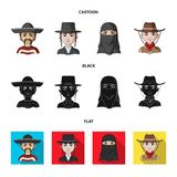 A mexican, a jew, a woman from the middle east, an american. The human race set collection icons in cartoon,black,flat. Style vector symbol stock illustration stock illustration