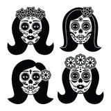 Mexican La Catrina - Day of the Dead girl skull Royalty Free Stock Photography