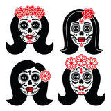 Mexican La Catrina - Day of the Dead girl skull Stock Photos
