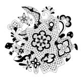 Mexican lace background design. royalty free illustration