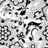 Mexican lace seamless pattern. Traditional decorative objects. Talavera ornamental ceramic. Ethnic folk ornament royalty free illustration