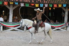 Mexican lasso demonstration Stock Photography
