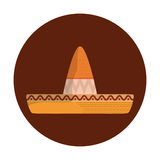 Mexican latino hat. Icon vector illustration graphic design Royalty Free Stock Photos