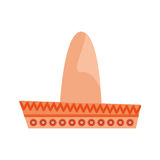 Mexican latino hat. Icon vector illustration graphic design Stock Photography