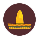 Mexican latino hat. Icon vector illustration graphic design Royalty Free Stock Photography