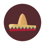 Mexican latino hat. Icon vector illustration graphic design Royalty Free Stock Photo