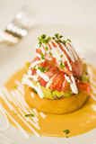 Mexican lobster sope stock photo