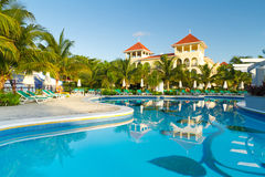 Mexican luxury resort. Luxury resort with swimming pool in Mexico Royalty Free Stock Photography