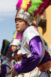 Mexican man dancing in traditional costume Stock Images