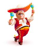 Mexican man dancing traditional dress Stock Images