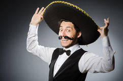 Mexican man in funny Royalty Free Stock Images