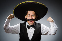 Mexican man in funny Stock Images